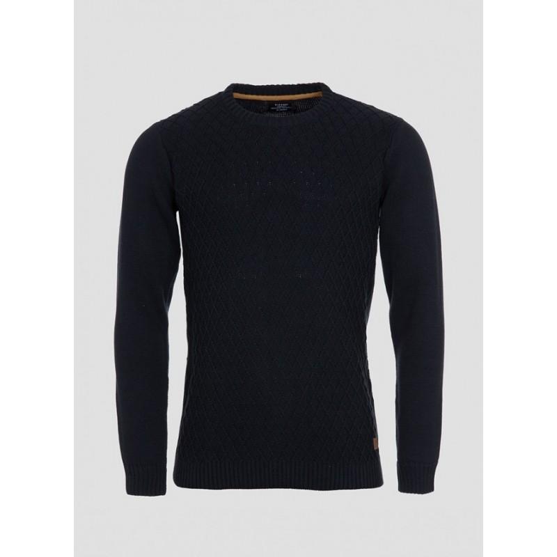 jersey hombre algodón azul