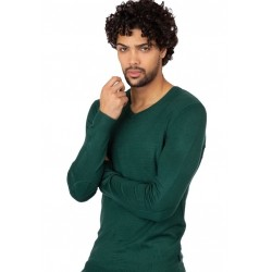 Jersey cuello pico color verde