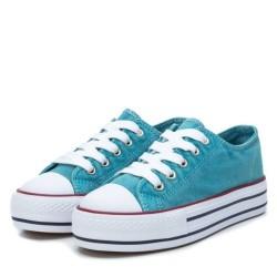 Zapatillas de lona con plataforma en color azul
